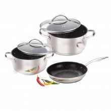 Набор посуды из 5 предметов (нержавеющая сталь)