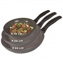 Сковородки 3шт. в наборе16см. 20см и 24см