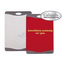 Разделочная доска с антибактериальной защитой Microban 36х25 серая с красным