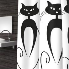 Штора для ванной 180х200 Cats