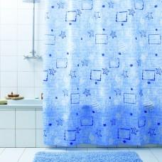 Штора для ванной 180х200 Marea син.