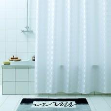 Штора для ванной 180х200 Quadretto бел.