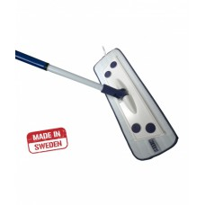 Швабра бытовая с алюминиевой ручкой + 1 насадка влажная